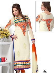 Poised #Georgette #PakistaniStyle Salwar Suit in India at Sanwaree Fashion. Buy Now!