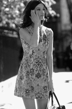 Hanneli Mustaparta - Dress made of thick sofa fabric, scored on Ebay for 12 dollars.