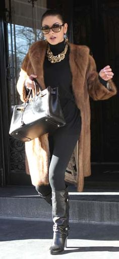 Catherine Zeta Jones in beautiful lunaraine mink