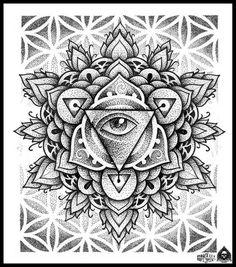Traditional Mandala Flower Tattoo | mandala eye by pande-lee