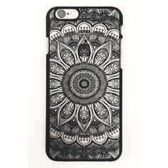 Boho Sketch iPhone 6 Case found on Polyvore featuring accessories, tech accessories, phone cases, phone, iphone, electronics, iphone cover case, black iphone case, apple iphone cases and iphone cases