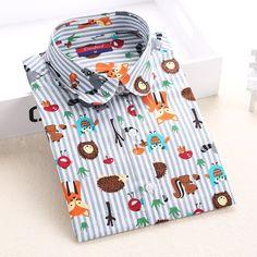 Newest Plus Size Shirt Women Animal Cotton Blouse Fashion Long Sleeve Ladies Tops Floral Print Paisley Women Blouses Casual 2016