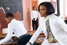 Leila Lopes, 2011 Miss Universe for L'Uomo Vogue's Africa Issue.