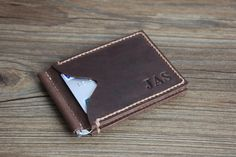 Hey, I found this really awesome Etsy listing at https://www.etsy.com/listing/200934474/personalized-wallet-mens-leather-money