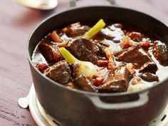 This beef stew recipe is the ultimate comfort food, with pancetta, red wine and pearl onions. Find this easy beef stew and more stew recipes at Tesco Real Food. Easy Beef Stew, I Want Food, Tesco Real Food, Slow Cooker Beef, Slow Food, Meat Recipes, Dinner Recipes, Cooking Recipes, Risotto