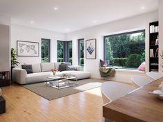 Musterhaus inneneinrichtung wohnzimmer  moderne wohnzimmer wandgestaltung wohnzimmer wandgestaltung modern ...