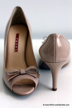 Prada Peep-Toe Shoes in nude to wear with everything dressy