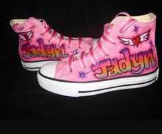 c67fc621e5bd 18 Best airbrushed sneakers images