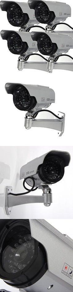 Dummy Cameras: Masione 4 Pack Solar Powered Fake Dummy Security Camera With Blinking Led New BUY IT NOW ONLY: $36.96
