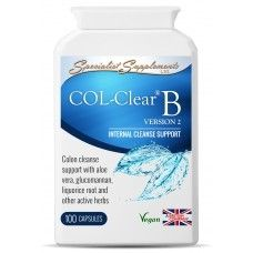 COL-Clear is a well-known herbal colon cleanser and bowel support combination, based on a formula by master herbalist, Dr. John R. Christopher.    Popular with colonic hydrotherapists, COL-Clear B v2 contains a range of active herbal ingredients which help to cleanse the intestinal tract, soften the stool, stimulate the liver and improve peristalsis. This, in turn, helps to produce bowel movements and expel layers of old encrusted mucus and faecal matter that may have accumulated over time…