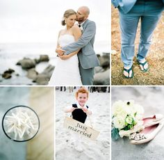 Real Wedding: Debi + Dave's Beautiful Beach Wedding