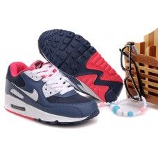 outlet store c2628 76dd4 Femme Nike Air Max 90 Dark Bleu Rouge Air Max 90, Hot Shoes,