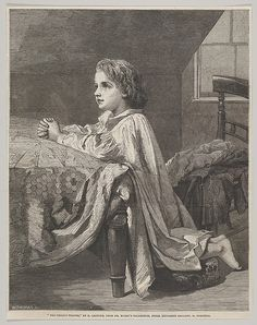 "William Luson Thomas | The Child's Prayer, from the ""Illustrated London News"" 