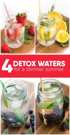Sticking to diet-friendly foods often means sacrificing flavor. But when it comes to your beverage, there's no reason to give up on taste. Mix up some delicious detox waters as you work your way down in size. Strawberry Basil Detox Water is guilt-free, and easy to assemble. All it requires are strawberries, basil leaves, ice, and water. Blackberry Mint Detox Water is just as simple, calling for mint, blackberries, ice, and water. Read on for 4 yummy detox water recipes to help you slim down.