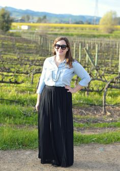 How to style a maxi skirt