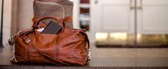 Barrington Leather Travel Tote