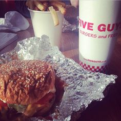 Five Guys treat with my favourite bearded man. Holy moly I've never enjoyed a burger so much in my life