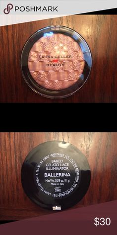 Laura Geller Baked Gelato Lace Illumi/Ballerina Laura Geller Baked Gelato Lace Illuminator/BallerinaI'm open to offers. Please use the offers feature. NO TRADES, PLEASE I'm happy to answer any questions, and offer additional photos.  SMOKE & PET FREE HOME.Thank you for visiting my closet. Heather Laura Geller Makeup Luminizer