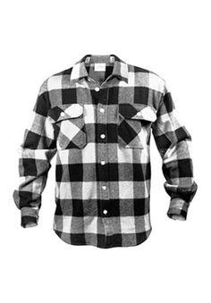 White Buffalo Plaid Brawny Sherpa Lined Flannel Jacket @$49.99 ! Buy Now at gorillasurplus.com