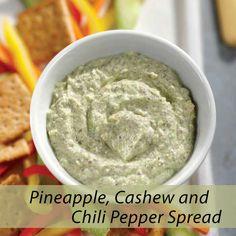 Pineapple Cashew And Chili Pepper Spread