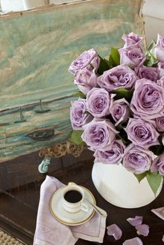 beauty violet roses