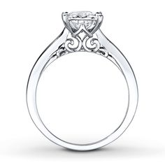 Love the side view- thinner though  Radiant Reflections Ring 3/4 Carat Diamond 10K White Gold