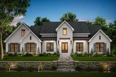 New House Plans, Dream House Plans, My Dream Home, Custom House Plans, Brick House Plans, Dream Houses, Modern Farmhouse Exterior, Farmhouse Style, Farmhouse Interior
