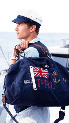 nautical all day, every day | Polo Ralph Lauren duffle bag // menswear style & fashion