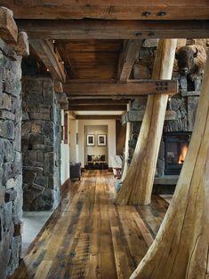 Cabin Interior #GrandHallway, #HallwaysDesign, accenthaus.com