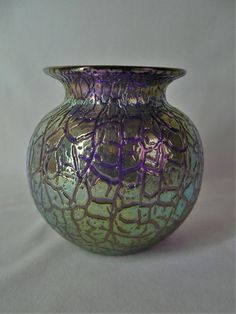 Cobalt mimosa  Loetz | Pottery & Glass, Glass, Art Glass | eBay!