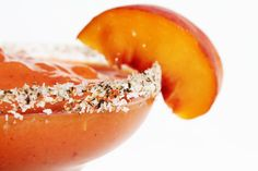 Gojee - Peach and Black Pepper Margarita by Fashionably Bombed
