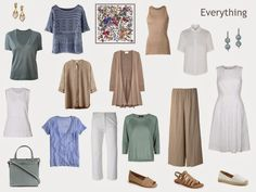 A Project 333 Capsule Wardrobe inspired by a Scarf: Capri, again, with a different color palette