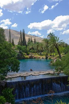Gan HaShlosha National Park - The pools at Gan Hashlosha are fed by a natural spring which rises within the park feeding water at a constant 28 degrees Celcius year-round.