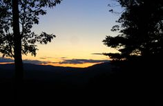 August sunset Campton NH