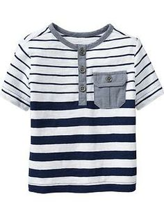 bought it: striped-chambray henley in goodnight Boys Clothes Sale, Baby Kids Clothes, Baby Boy Outfits, Kids Outfits, Kids Clothing Brands, Kids Fashion Boy, Boys Shirts, Kids Wear, Toddler Boys