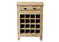 Weinregal Frigo Kommode Holz Massiv Mango 7708. Buy now at https://www.moebel-wohnbar.de/weinregal-frigo-flaschenregal-weinschrank-holz-massiv-mango-7708.html