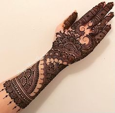 Explore latest Mehndi Designs images in 2019 on Happy Shappy. Mehendi design is also known as the heena design or henna patterns worldwide. We are here with the best mehndi designs images from worldwide. Henna Hand Designs, Mehndi Designs Finger, Stylish Mehndi Designs, Wedding Mehndi Designs, Mehndi Design Pictures, Beautiful Mehndi Design, Best Mehndi Designs, Mehndi Designs For Hands, Arabic Mehndi Designs