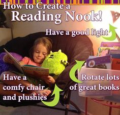 Tips to create a simple and inexpensive reading nook for you kids!  LOVE the children's atlas -   http://www.DebBixler.com/party-plan-training/