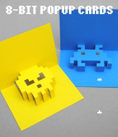 8-bit popup cards--so cool