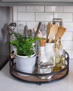 I love kitchen vignettes  . . . . . . . . . . . . . #vignette #subwaytile #farmhousekitchen #kitchendecor #farmhousedecor #farmhousestyle #modernfarmhouse #modernfarmhousestyle