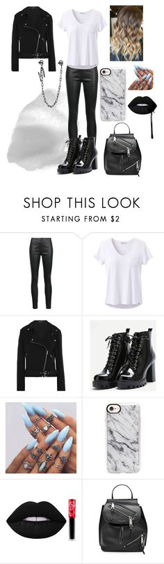 """""""Jean"""" by lord-nightshade on Polyvore featuring Veronica Beard, prAna, Equipment, Casetify, Lime Crime, Marc Jacobs, Dsquared2, black and blackandwhite"""