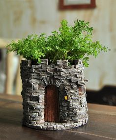 Look at this #zulilyfind! Fairy Castle Flower Pot #zulilyfinds