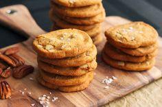 Salted Brown Butter Pecan Cookies