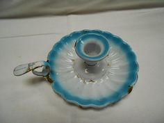 Enamel candle holder to crochet or read by