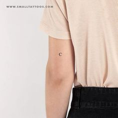 C Uppercase Serif Letter Temporary Tattoo (Set of – Small Tattoos