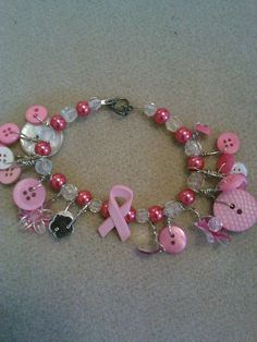 button cure bracelet by CRAZYBUTTONDESIGNS13 on Etsy, $7.00