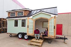 A beautiful tiny house on wheels in Dallas, built by its owners after they decided to live sustainably and travel across the US.