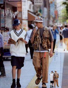 Streetwear Mode, Streetwear Fashion, 90s Fashion, Vintage Fashion, Fashion Outfits, Japan Men Fashion, Celebrities Fashion, Fashion History, Fashion Art