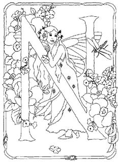 Fairy Alphabet 13 Is A Coloring Page From BookLet Your Children Express Their Imagination When They Color The Will