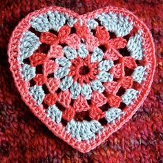 Crochet granny heart - easy (if slightly wonky as this was the first :-)